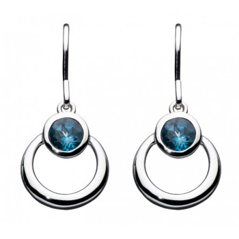 Simmer Loop Blue Drop Earrings