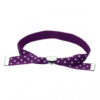 Kit Heath Purple Polka Dot Ribbon Bracelet