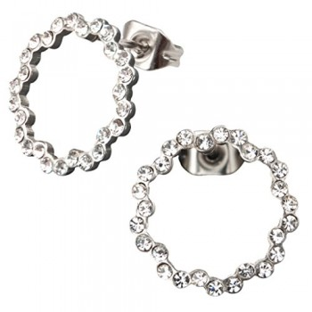 Inox Crystal Ring Earrings