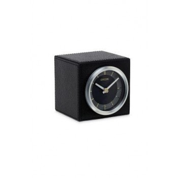 Citizen Black Leather Clock