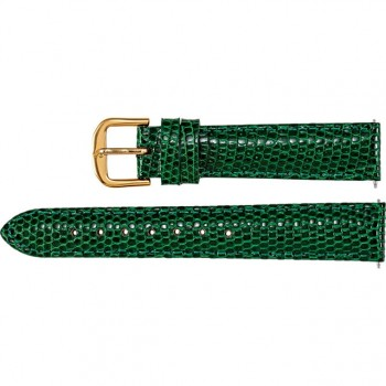 14mm Regular Green EZ-Change Genuine Lizard Padded Strap