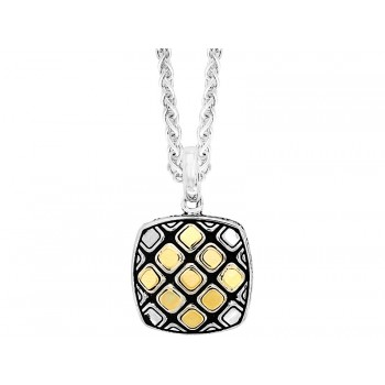Gents 2-Tone Necklace / Silver & 18 Kt.