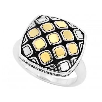 EFFY 2-Tone Silver & 18 Kt. Ring