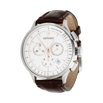 Movado Men's Stainless & Leather Chronograph Watch