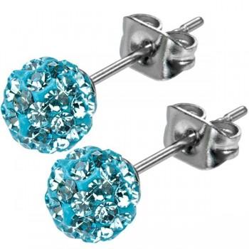 Inox Aqua Crystal Studs