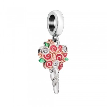 Bouquet of flowers swar crys berry & rose rg electroplating