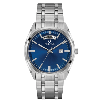 Bulova Men's Stainless Steel Blue Dial Watch
