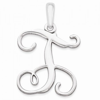 Sterling Silver T Pendant