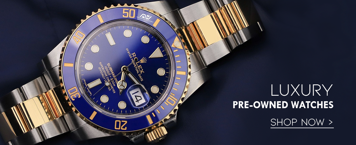 luxury preowned watches - shop now