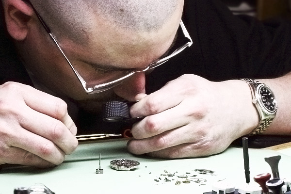 master watchmaker at work