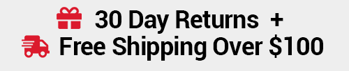 shop risk-free with 30 day returns + free shipping over $100